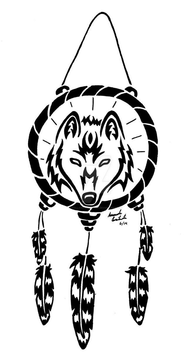 Wolf Dreamcatcher by fallowsingerwolf