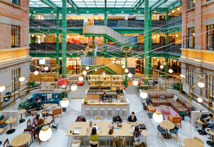 WeWork is a coworking in Shangai, built in a former factory