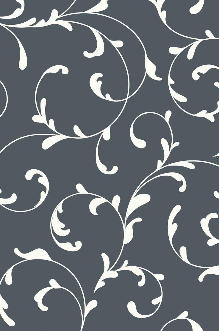 Fondo gris azulado con diseño blanco