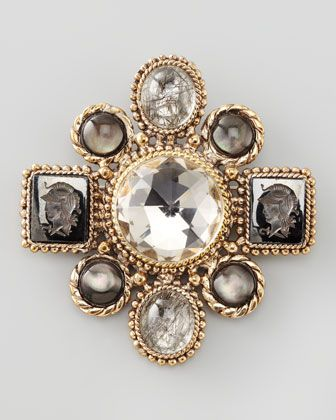 Multi-Station+Brooch+by+Stephen+Dweck+at+Neiman+Marcus.