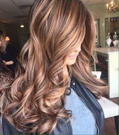 dark brown hair with caramel highlights - Hottest Hair colour ideas