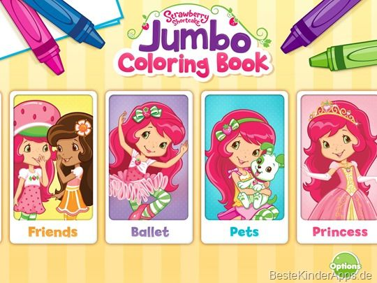 Emily Erdbeer Malbuch App Strawberry Shortcake Jumbo Coloring Book 10