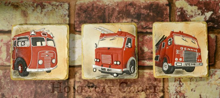 3 ages of Fire Engine / truck     By Lucy (Honeycat Cookies)    http://www.honeycatcookies.blogspot.co.uk
