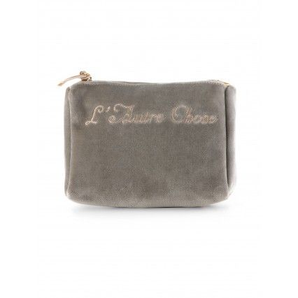 TURTLE DOVE GREY VELVET FLAT CLUTCH #BAG #lautrechose #christmas #gift #fashion #style
