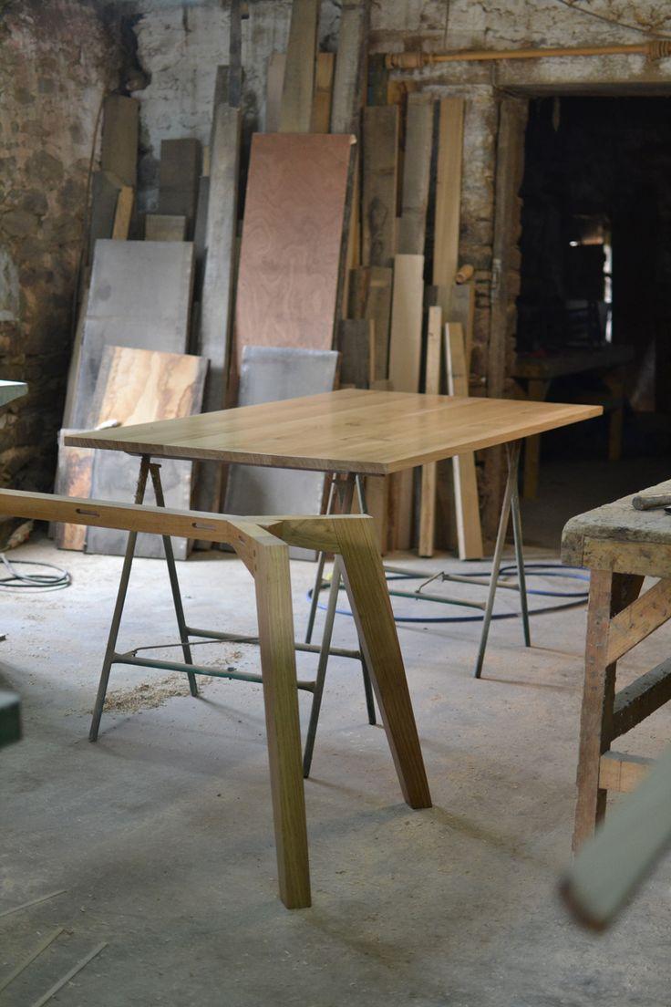 Cabinet maker bespoke pine furniture oak furniture bespoke - One Of Our Chiswick Oak Dining Tables In The Making Makers Bespoke Furniture Https