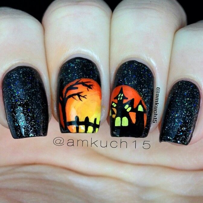 Spooky nails for Halloween