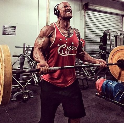 the rock working out