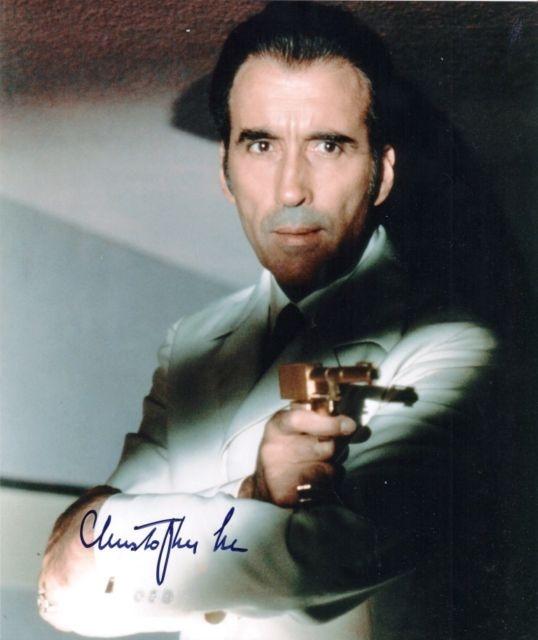 Christopher Lee Signed James Bond 007 8x10 Photo UACC RD | eBay