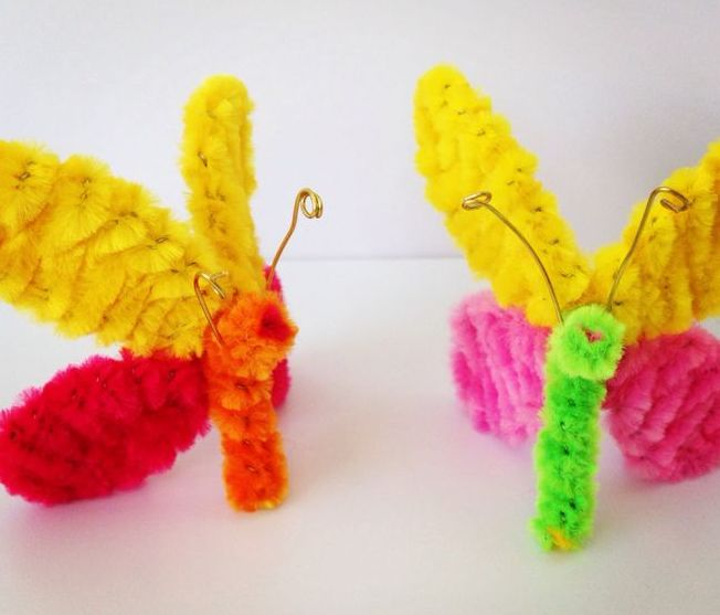 Pipe Cleaner Crafts for Kids | Bricolage - Cure-pipes ...