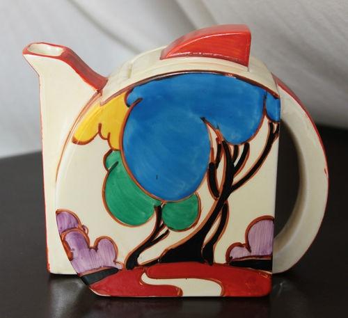 Clarice Cliff, Blue Autumn, Stamford Teapot
