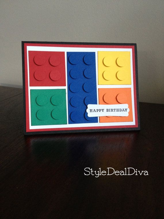 Lego Birthday Card - Blank. $4.00, via Etsy.