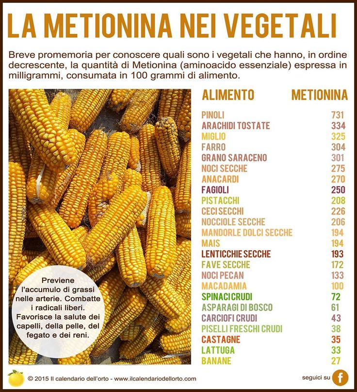 La metionina nei vegetali