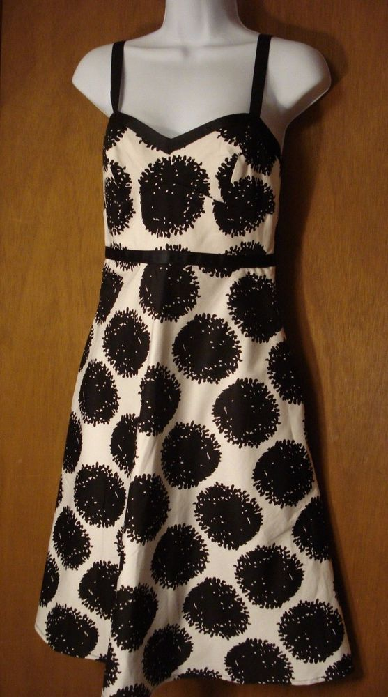 Donna Morgan Fit & Flare Dress Women's Size 2 Black and White #DonnaMorgan #Casual