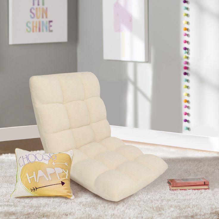 best living room chair%0A Esme Plush Beige Armless Quilted Recliner