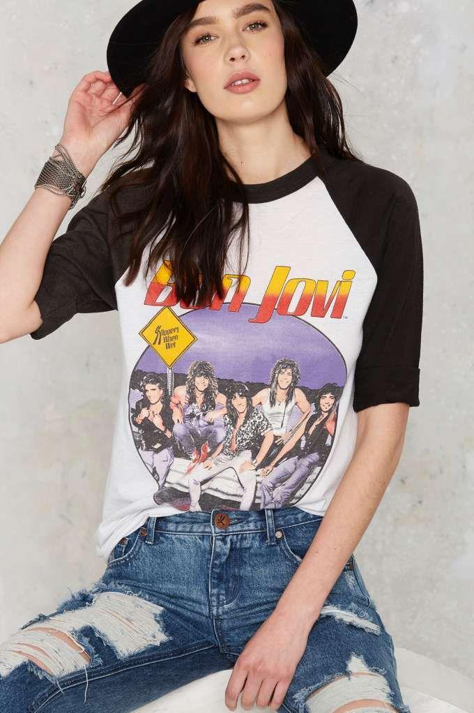 Vintage Bon Jovi '87 Tour Tee - Tops