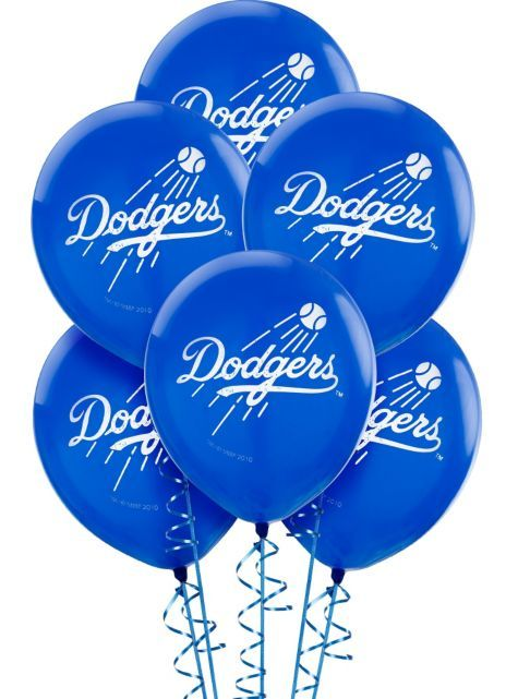 Los Angeles Dodgers Latex Balloons 12in 6ct - Party City