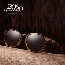 Clássico Homens de Acetato de Óculos De Sol Das Mulheres Designer de Marca Rodada óculos de Sol Óculos Polarizados Condução Shades Unisex Eyewear Oculos AT8001(China (Mainland))