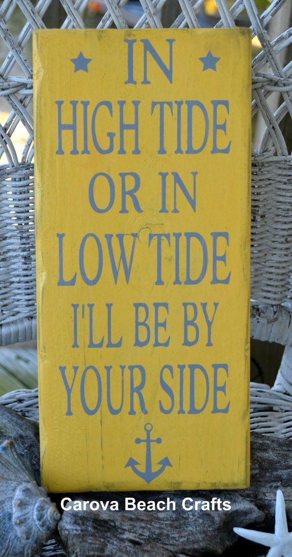 Anchor Decor, Wedding, Coastal, Nautical, Anchor Sign, Beach Décor, Handpainted, In High Tide or Low Tide by The Sign Shoppe