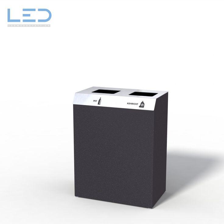 C-Bin Recyclingstation, Wertstofftrennsystem, Abfallbehälter mit 110l PET