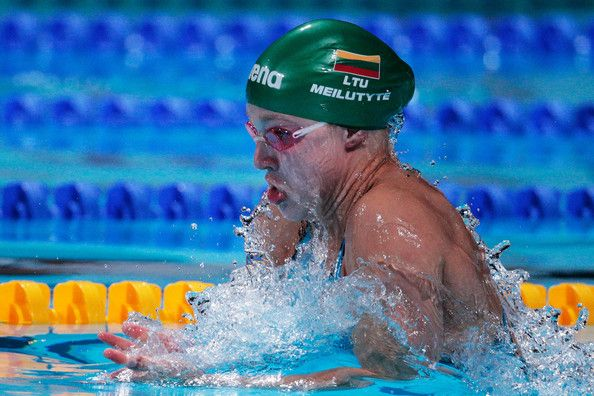 Ruta Meilutyte of Lithuania in action during the Swimming Women's 100m Breastroke Final on day eleven of the 15th FINA World Championships at Palau Sant Jordi on July 30, 2013 in Barcelona, Spain.