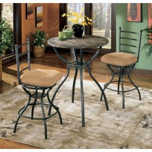 Antigo slate pub table set w2 extra swivel chairs in dayronredheads Garage Sale in