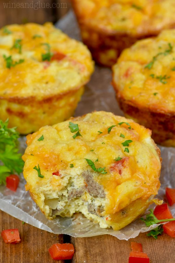 Cheese and Sausage Egg Muffins | Wine & Glue | Bloglovin'