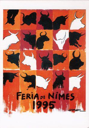 Féria de Nîmes - Affiche 1995 - Artiste Arman