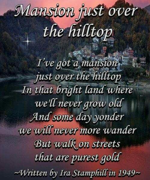 Mansion just over the hilltop