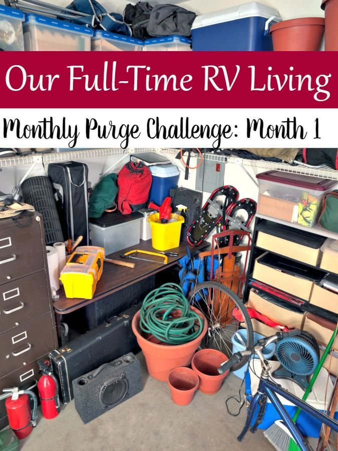 We're planning our full-time RV living launch and the clutter purge is on! Check out our Month 1 challenge to see what we're up to this month!