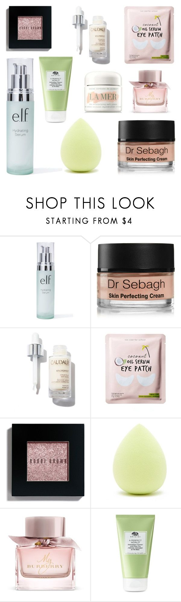 """""""Random Beauty Peoducts 2"""" by pure-vnom ❤ liked on Polyvore featuring e.l.f., Dr. Sebagh, Bobbi Brown Cosmetics, Forever 21, Burberry, Origins and La Mer"""