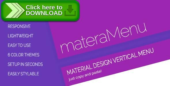 [ThemeForest]Free nulled download materaMenu - Responsive Material Vertical Menu from http://zippyfile.download/f.php?id=48479 Tags: ecommerce, accordion, accordion menu, context, context menu, custom menu, drop-down menu, dropdown menu, fixed menu, material menu, menu, menu builder, right click menu, right-click, right-click menu, vertical menu