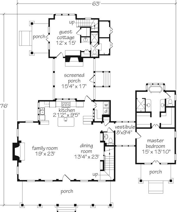 Cabin house plans southern living woodworking projects for House plans with guest houses southern living
