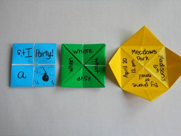How to make origami birthday party invitations