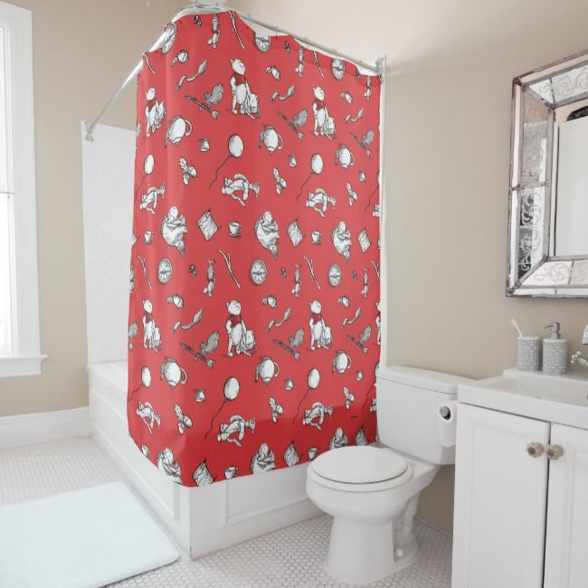 Create Your Own Shower Curtain Zazzle Com Red Shower Curtains