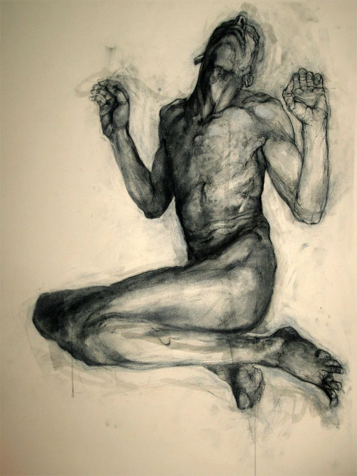 Displaying the fabulous richness of charcoal as a medium, this fine drawing by David Smith