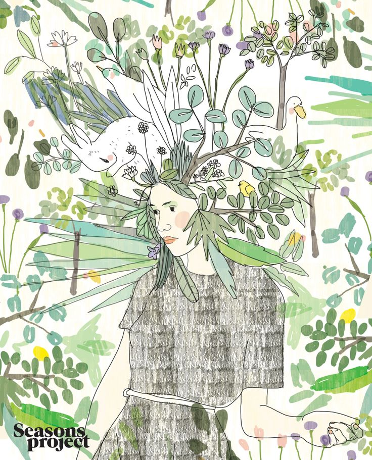 Seasons of life/ May-June issue 2013 #seasonsproject #seasons #illustration #art #drawing #girl #nature #flower