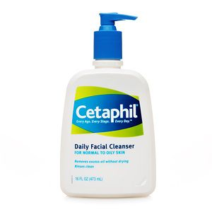 Cetaphil Face Cleanser is gentle, effective and found at any drugstore. Consistently ranked higher than department store brands and is 1/4 the price!