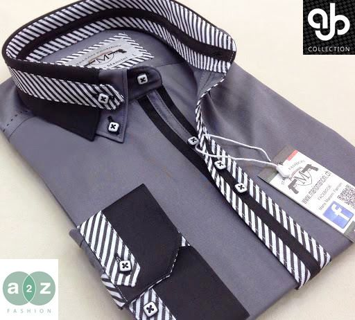 Brand New Men's Formal, Smart, Grey Black, White Double Collar Casual Italian Design Slim Fit Shirt, with Contrast Black, & White Striped NEW DESIGN - S - 4XL These high class bespoke shirts are great for any occasion. RRP: £89.99 Our Price: Only £36.99