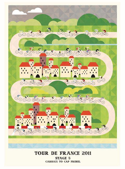 Le Tour de France 2011 illustré