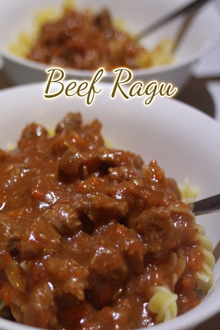 We are all about easy at Sistermixin and this Beef Ragu is one of the easiest dishes you will ever make. It might take a while to cook, but the prep time is only a few minutes. We love it served with pasta, but you could also serve it on mashed potato with veggies as well.