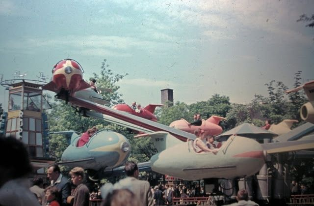 airplane in the fun-fair (Budapest, 1965)