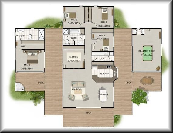 353m2 Or 3880 Sq Foot 4 Bedrooms Home Plan 4 Bed 4 Etsy In 2021 House Floor Plans House Plans House Plans Australia