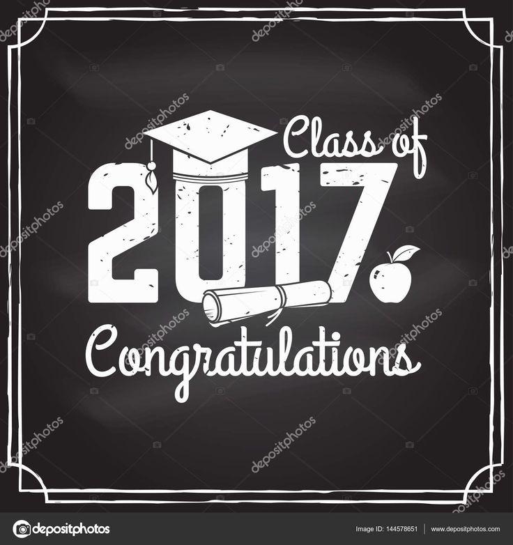 Vector Congratulations graduates Class of 2017 badge. — Stock ...