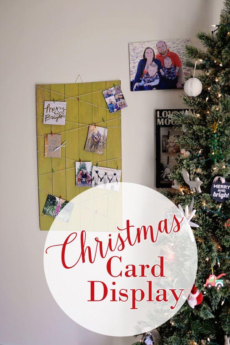 DIY Christmas Card Display