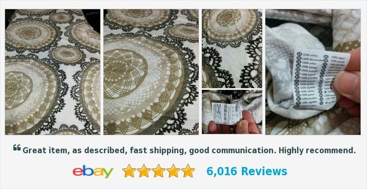 IKEA Twin Size Lace Medallion 100% Cotton Duvet Cover Brown and Tan on White | eBay #ikea #contemporary