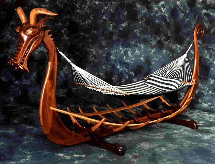Viking Ship Hammock Stand. | Dragon Riders | Pinterest ...