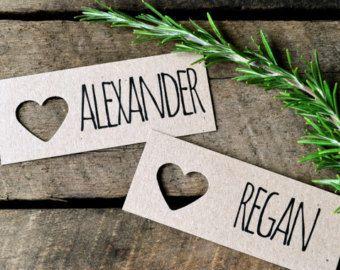 Moderne Hochzeit Tischkarten/Namensschilder