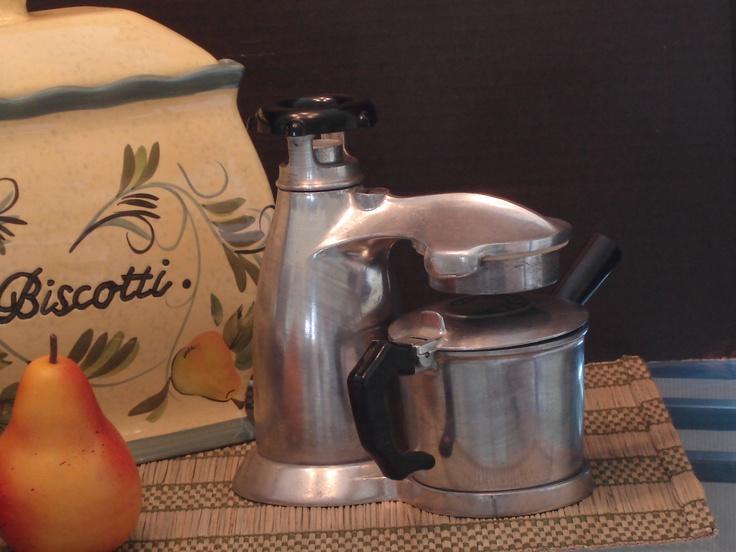 1940s Italian Made Vesuviana Stove Top Espresso Maker Attractive Shape And It Works