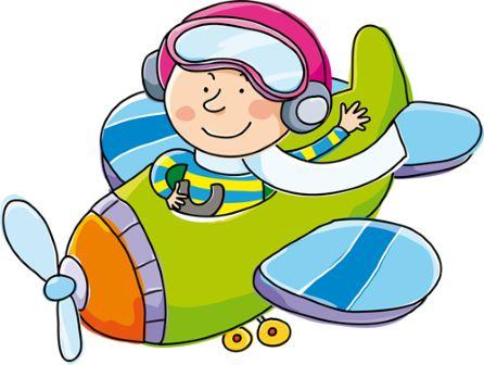 Stickers Murali Bambini Camerette L'aviatore