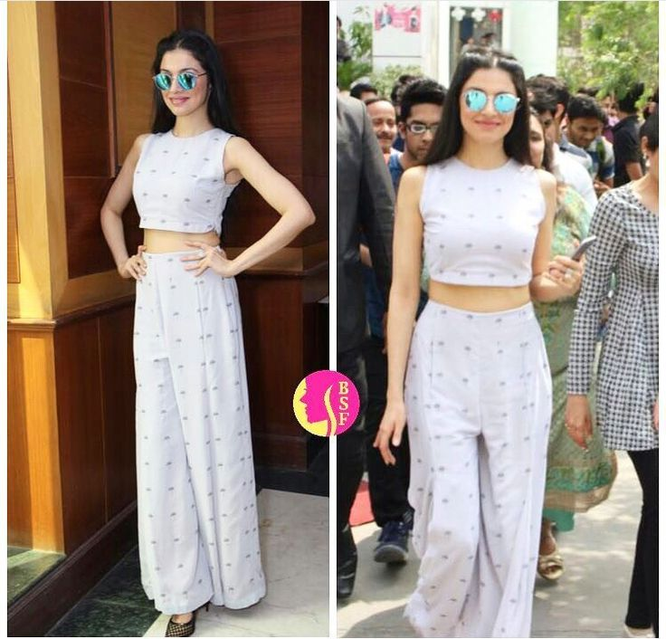 Nishka# Divya Khosla # summer outfit # Indian cropped fashion